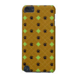 Green Argyle Paw Prints iPod Touch 5G Cover
