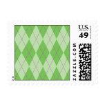 Green Argyle Stamps