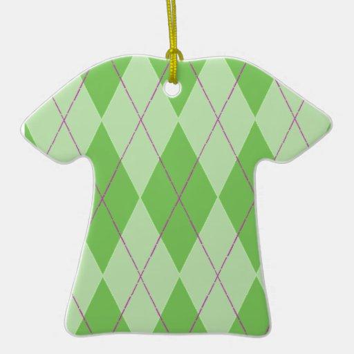 Green Argyle T-shirt Ornament