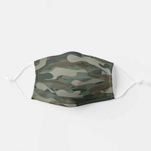 Green army camo camouflage cloth face mask