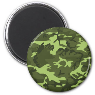 Green army camouflage design magnet