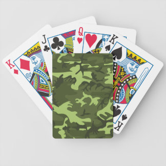 Green army camouflage design poker deck