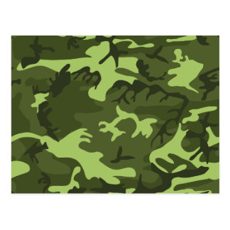 Green army camouflage design postcard
