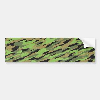 Green Army Camouflage Textured Bumper Sticker