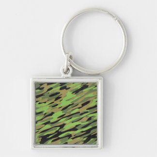 Green Army Camouflage Textured Keychain