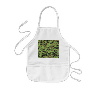 Green Army Camouflage Textured Kids' Apron