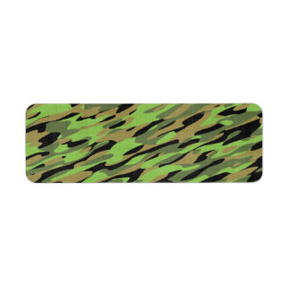 Green Army Camouflage Textured Label