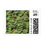 Green Army Camouflage Textured Postage Stamps