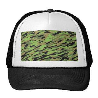 Green Army Camouflage Textured Trucker Hat