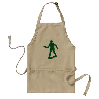Green Army Man Adult Apron