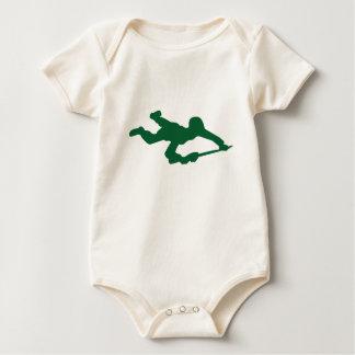 Green Army Man Baby Bodysuit