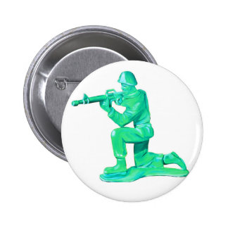 Green Army Man Button