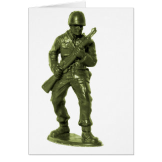 Green Army Man Card