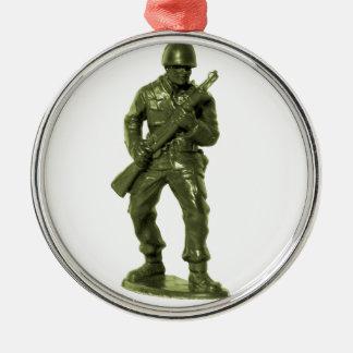 Green Army Man Metal Ornament
