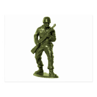 Green Army Man Postcard