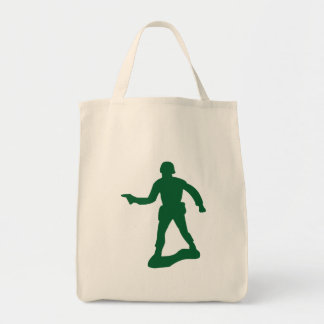Green Army Man Tote Bag