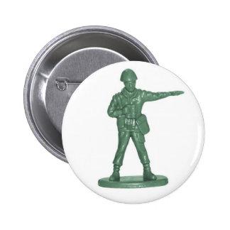 Green Army Men Pinback Button