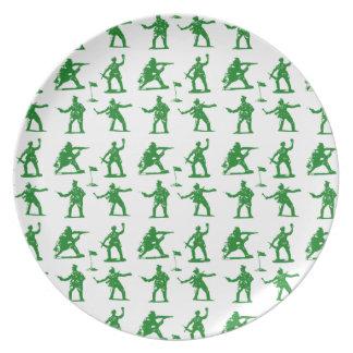 Green Army Men Dinner Plate