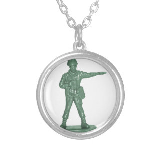 Green Army Men Personalized Necklace