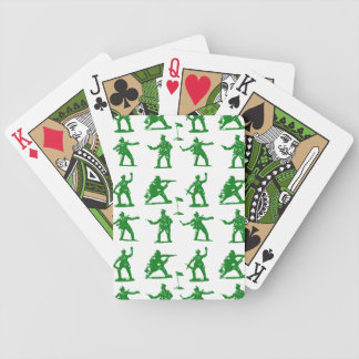 Green Army Men Bicycle Playing Cards
