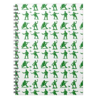 Green Army Men Spiral Notebook