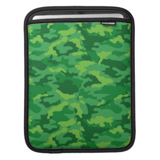 Green Army Military Camo Camouflage Pattern Fabric iPad Sleeves