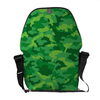 Green Army Military Camo Camouflage Pattern Fabric Messenger Bag
