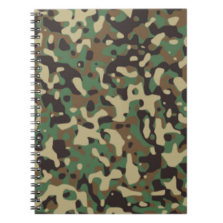 Green Army Print Spiral Notebook