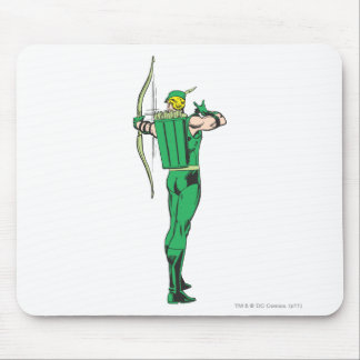 Green Arrow Back View Mouse Pad