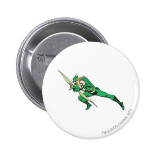Green Arrow Crouches 2 Inch Round Button