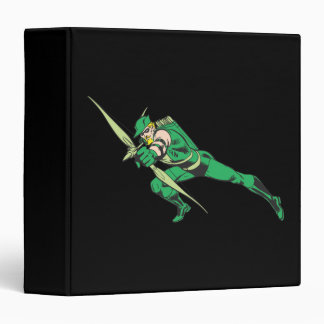 Green Arrow Crouches 3 Ring Binder