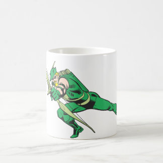 Green Arrow Crouches Coffee Mug