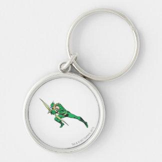 Green Arrow Crouches Keychain
