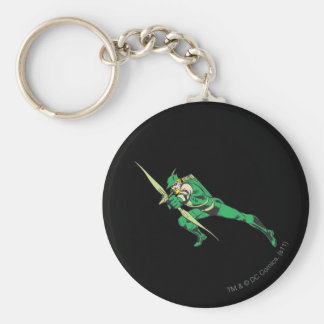 Green Arrow Crouches Keychain