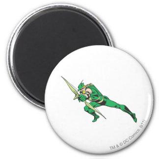 Green Arrow Crouches Refrigerator Magnet