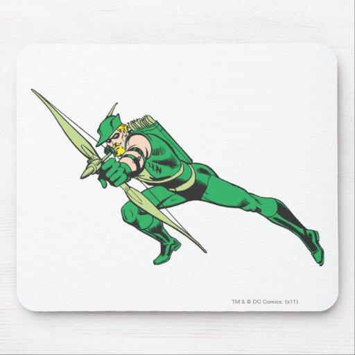 Green Arrow Crouches Mousepad