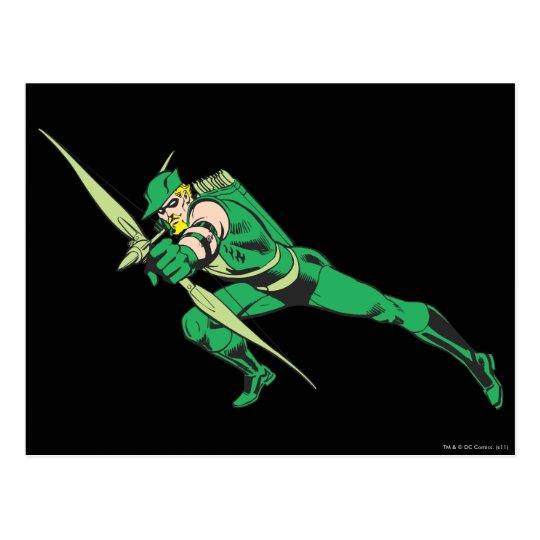 Green Arrow Crouches Postcard