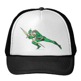 Green Arrow Crouches Trucker Hat