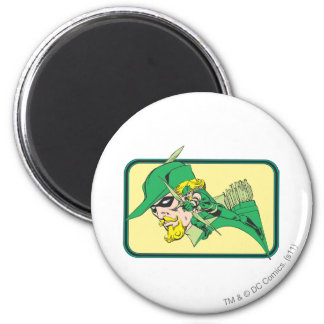 Green Arrow Head Shot 2 Inch Round Magnet