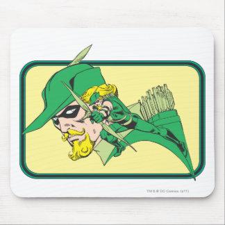 Green Arrow Head Shot Mouse Pad