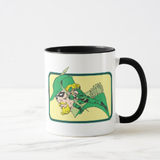 Green Arrow Head Shot Mug