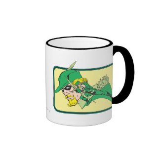Green Arrow Head Shot Ringer Mug