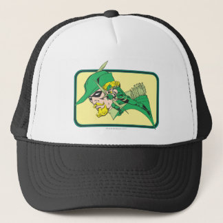 Green Arrow Head Shot Trucker Hat