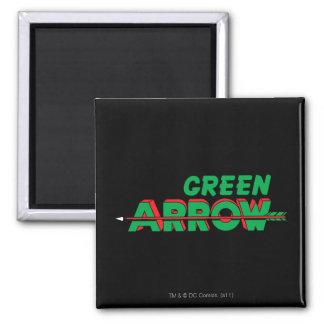 Green Arrow Logo 2 Refrigerator Magnets