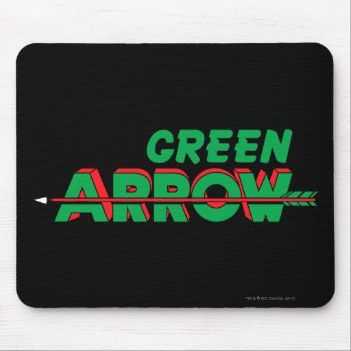 Green Arrow Logo 2 Mouse Pad