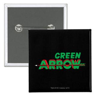 Green Arrow Logo 2 Pinback Button