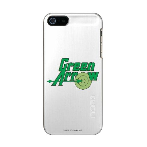 Green Arrow Logo Metallic Phone Case For iPhone SE/5/5s