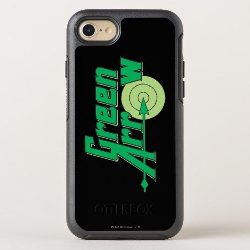 Green Arrow Logo OtterBox Symmetry iPhone SE/8/7 Case