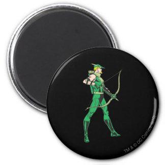 Green Arrow Profile Fridge Magnet