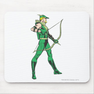 Green Arrow Profile Mouse Pad